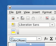 How to quickly apply color schemes to a spreadsheet with OpenOffice or LibreOffice /img/color2rows_button.png
