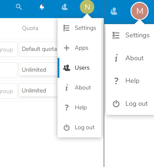NextCloud 16 review /img/figure-02-admin-vs-user-settings.png