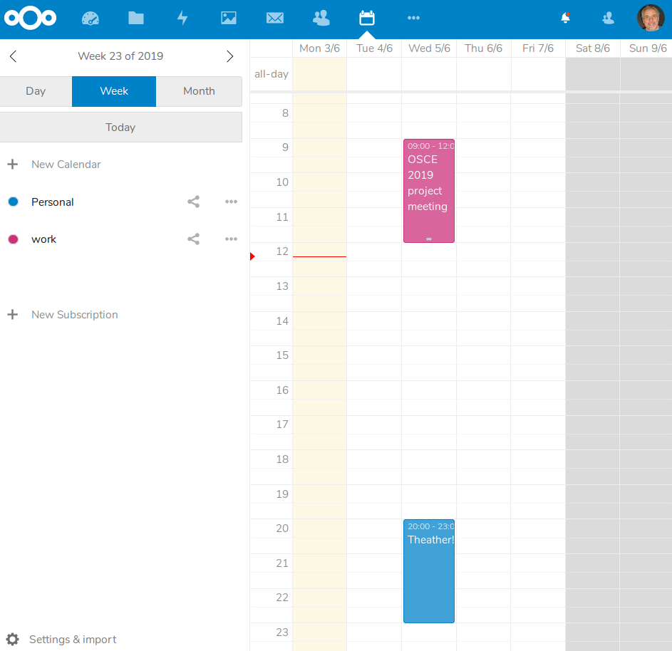 NextCloud 16 review /img/figure-09-nextcloud-calendar.png