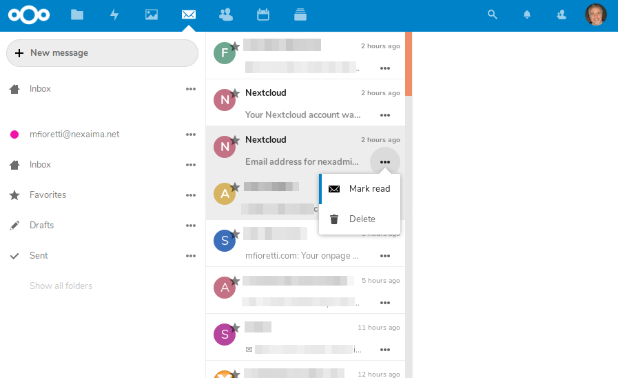 NextCloud 16 review /img/figure-14-nextcloud-mail-app.png